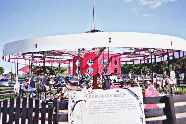 Historic farm carousel.