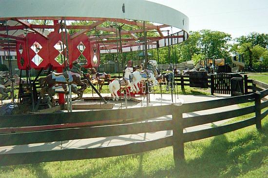 Carousel in Frying Pan Park.