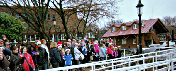 Crowd watching a winter show in Alexandria, Virginia.