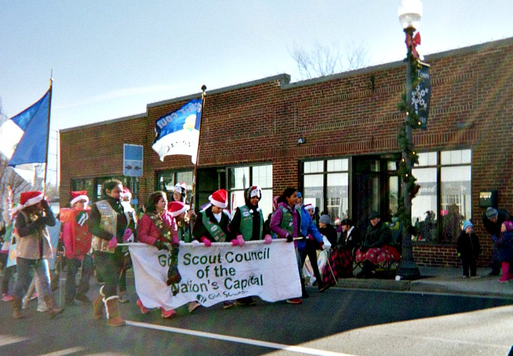 PowerSchool mobile app to keep track of girl scouts marching in a Christmas parade.