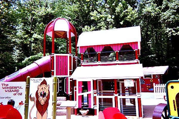 Wizard of Oz theme playground in Watkins Regional Park.