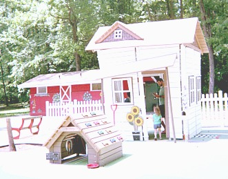 Play house at Wizard of Oz themed playground.