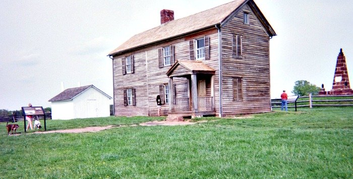 Historic house at the Manassas Battlefield.