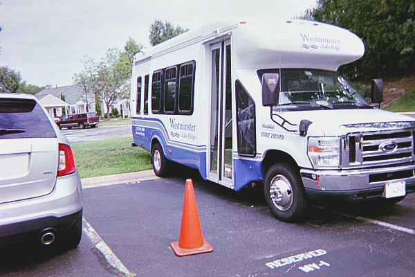 Active adult living communities have buses like these that their residents can use to go places.